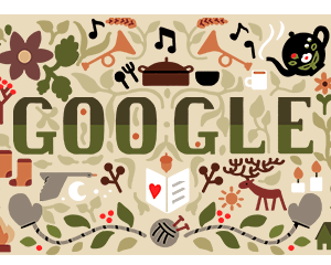 HAPPY HOLIDAYS Happy Holidays! Google's celebrates Christmas with a heartwarming Doodle