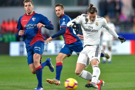 Huesca 0 Real Madrid 1: Gareth Bale on target as Los Blancos labour against La Liga's bottom side