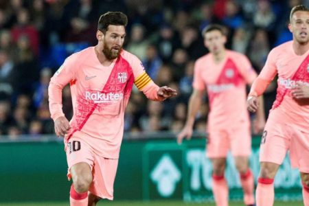 Getafe 1 Barcelona 2: Lionel Messi and Luis Suarez goals extend LaLiga lead to five points
