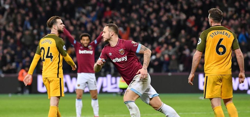 West Ham 2 Brighton 2: Marko Arnautovic double rescues point for Hammers