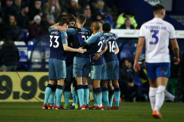 Tranmere 0 Tottenham 7: Fernando Llorente hits hat-trick as Spurs run riot in FA Cup third round