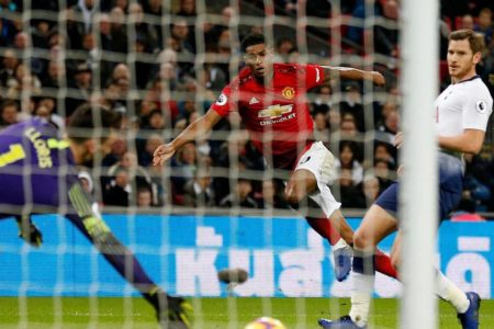 Tottenham 0 Man Utd 1: David De Gea and Marcus Rashford seal Wembley win