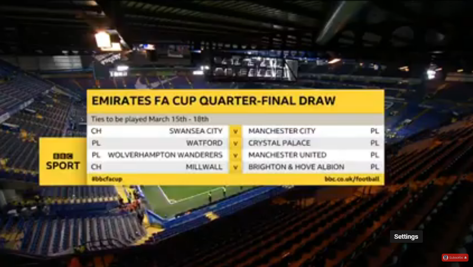 The Emirates FA Cup Quarter Final Draw LIVE | Emirates FA Cup 2018/19
