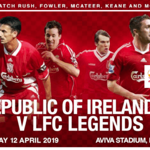 Sean Cox match LIVE stream as Liverpool Legends vs Republic of Ireland XI at Aviva Stadium