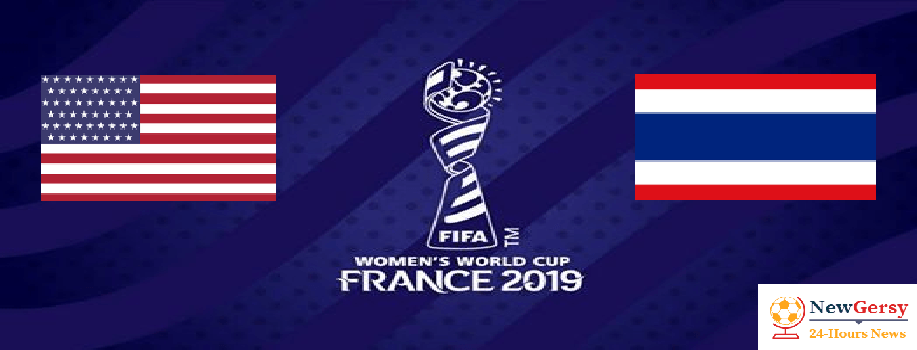 USA 13-0 Thailand 2019 FIFA Women's World Cup TV channel, live stream, watch online