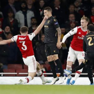 Why are Arsenal playing Vitoria on Wednesday in the Europa League?