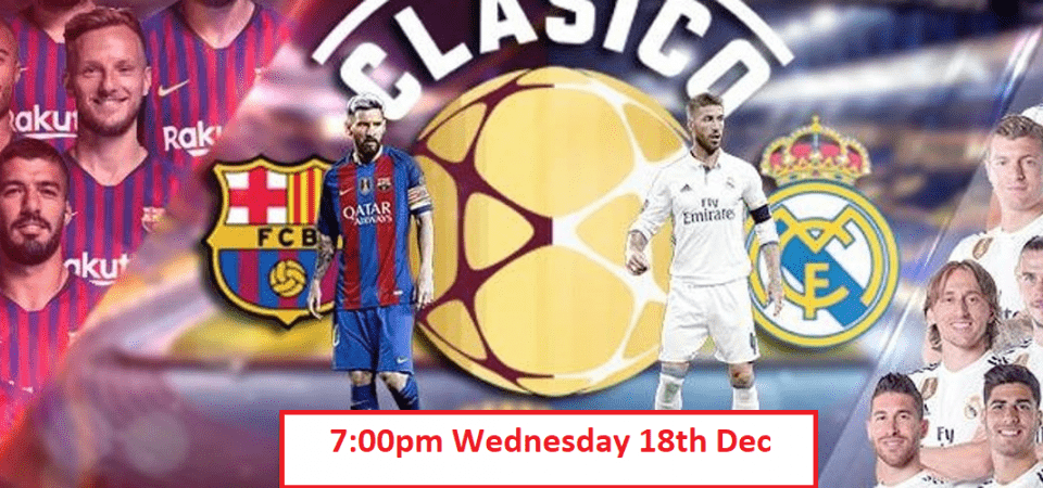 Barcelona vs Real Madrid live stream: how to watch El Clásico 2019-20 online from anywhere