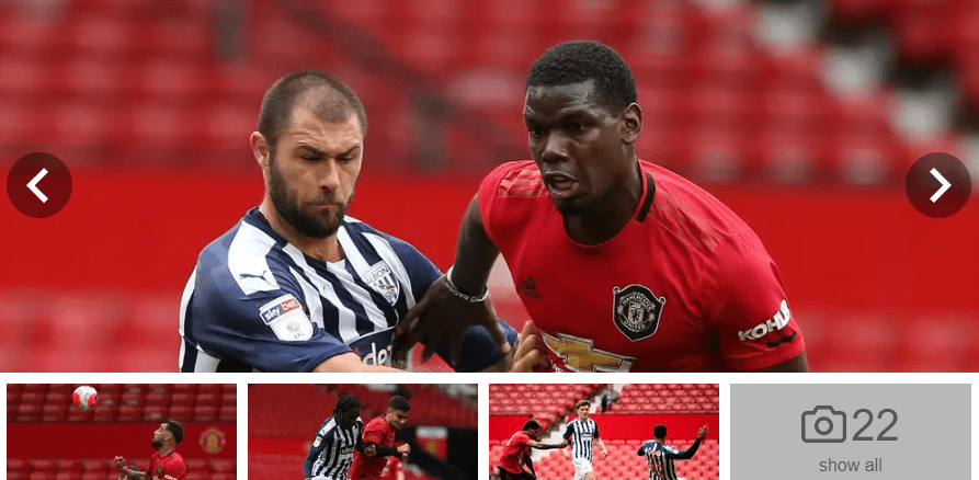 Manchester United vs West Brom in two Old Trafford friendlies before Premier League return